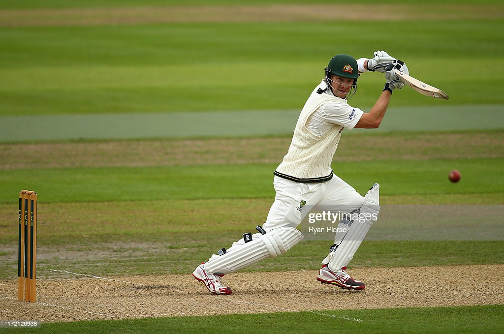 Shane Watson of Australia bats during day one of the Tour Match between Worcestershire and Australia at New Road on July 2, 2013 in Worcester, England.