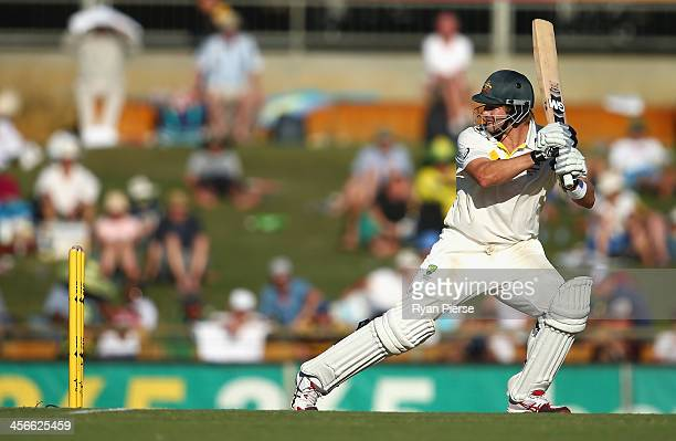 Shane Watson of Australia bats during day three of the Third Ashes Test Match between Australia and England at WACA on December 15 2013 in Perth...
