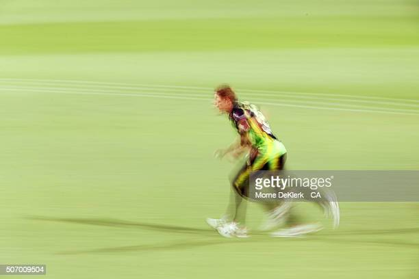 Shane Watson of Australia runs in to bowl during game one of the Twenty20 International match between Australia and India at Adelaide Oval on January...