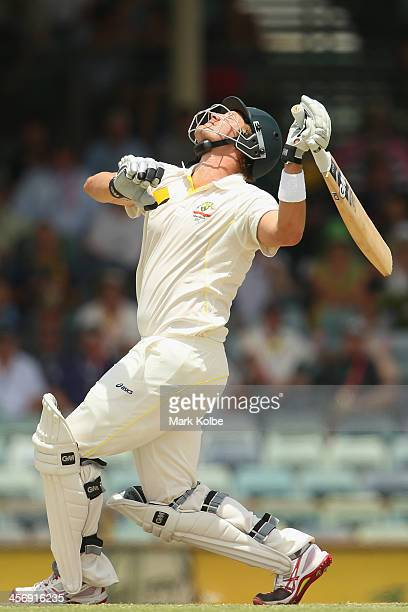 Shane Watson of Australia skies a ball and is dropped by Ian Bell of England before being run out during day four of the Third Ashes Test Match...