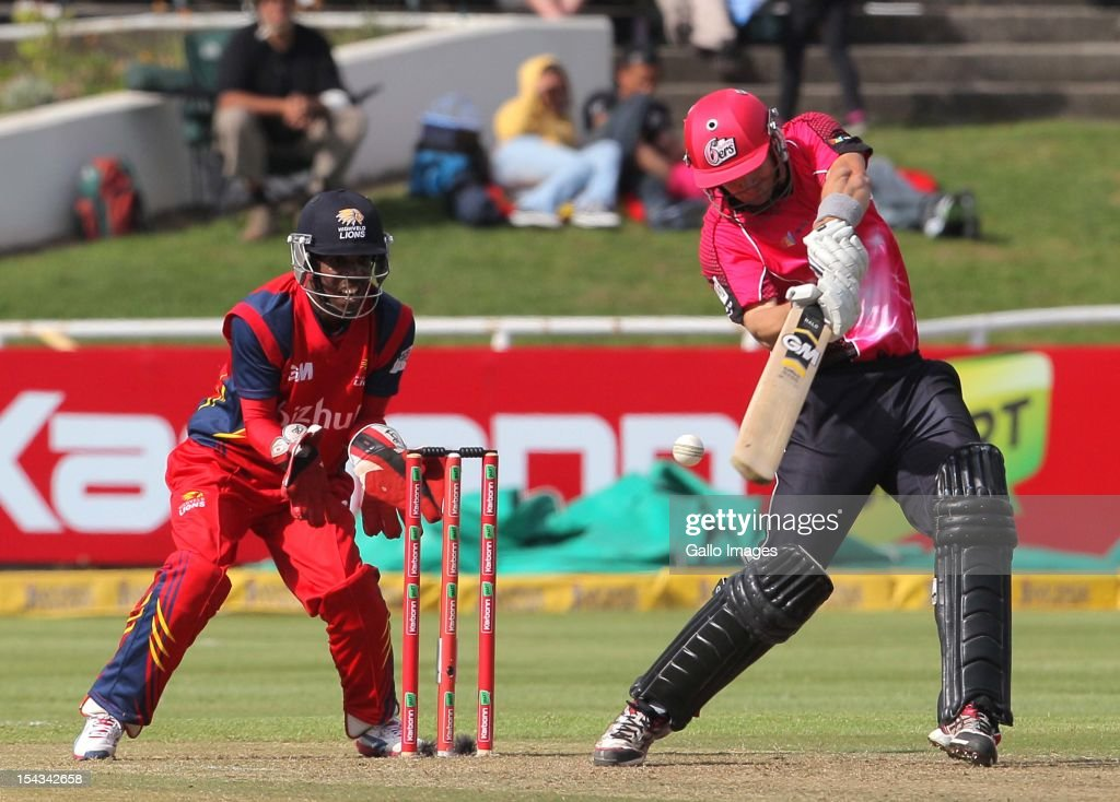 <a gi-track='captionPersonalityLinkClicked' href=/galleries/search?phrase=Shane+Watson+-+Cricket+Player&family=editorial&specificpeople=171874 ng-click='$event.stopPropagation()'>Shane Watson</a> of the Sydney Sixers during the Karbonn Smart CLT20 match between bizbub Highveld Lions (South Africa) and Sydney Sixers (Australia) at Sahara Park Newlands on October 18, 2012 in Cape Town, South Africa.