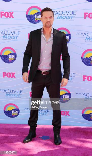Shane West arrives at the 2012 Teen Choice Awards at Gibson Amphitheatre on July 22 2012 in Universal City California