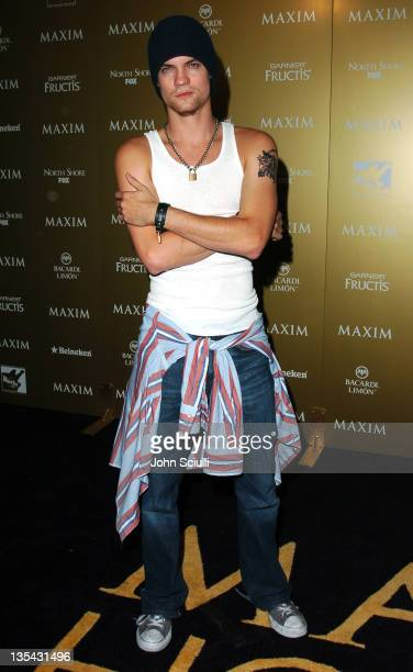 Shane West during Maxim Magazine Hot 100 Party in Celebration of the Grand Opening of Body English In the Hard Rock Hotel Casino Red Carpet at Hard...