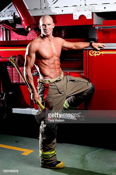 SHANE10/11/07Shane Killeen a Toronto Firefighter and cover boy for the Toronto firefighters calendar poses for The Star in his Scarborough Fire Hall...