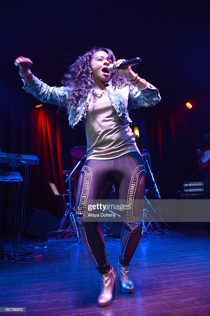 Shanell performs at the Gibson Guitar and TahMc Entertainment presents 'The Love, Life And Reality Show' at Federal Bar on February 26, 2013 in Hollywood, California.