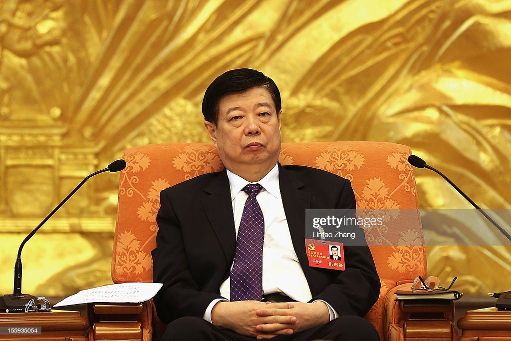Shangdong Municipality Communist party secretary Jiang Yikang attends a meeting of the 18th Communist Party Congress at the Great Hall of the People on November 9, 2012 in Beijing, China. The Communist Party Congress will convene from November 8-14 and will determine the party's next leaders.