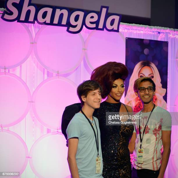 Shangela attends 3rd Annual RuPaul's DragCon day 2 at Los Angeles Convention Center on April 30 2017 in Los Angeles California