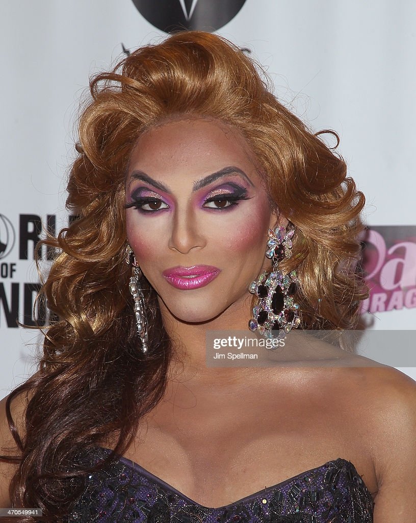 Shangela attends 'RuPaul's Drag Race' Season 6 Premiere Party at Stage 48 on February 19, 2014 in New York City.