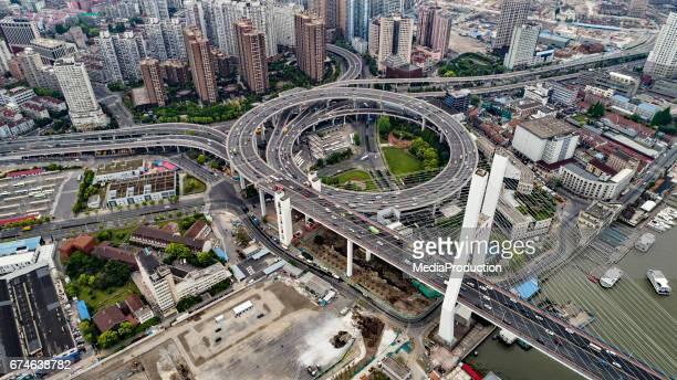 Shanghai aerial Nanpu area