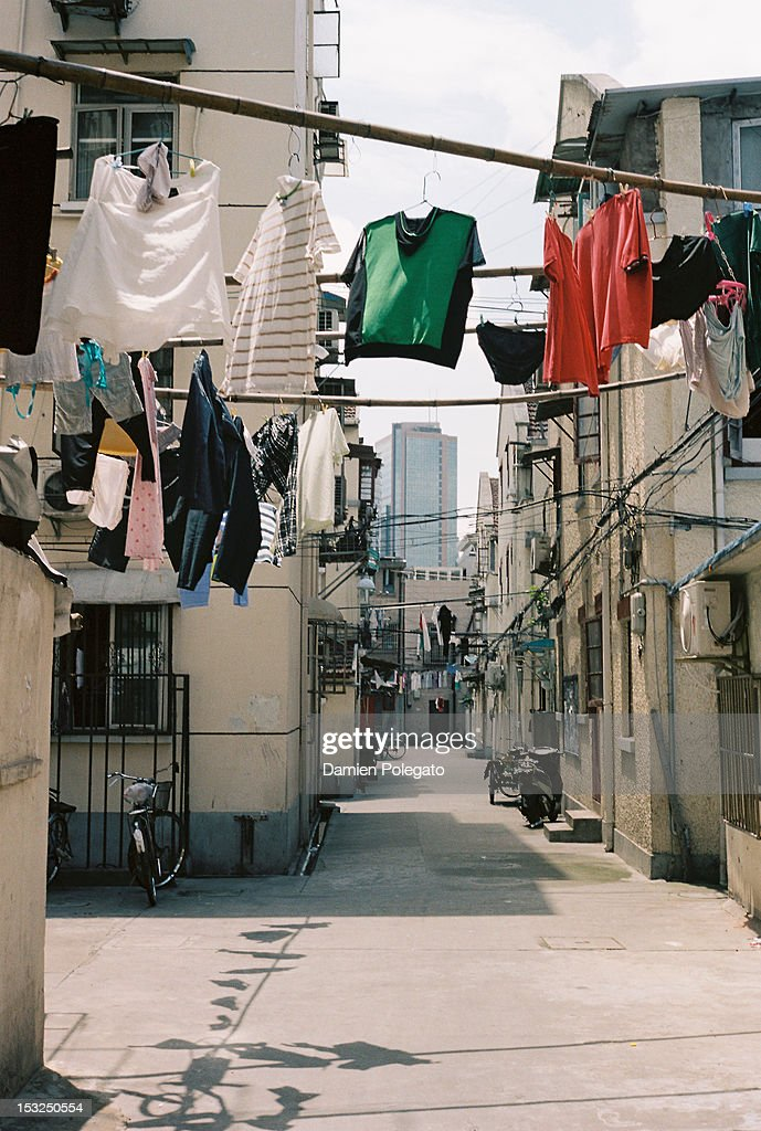 Shanghai alley : Stock Photo