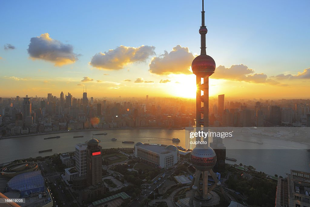 Shanghai at sunset
