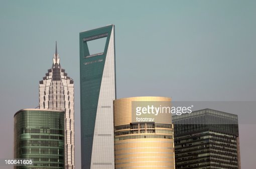 Shanghai buildings : Stock Photo
