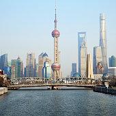 Shanghai Bund and Pudong skyline