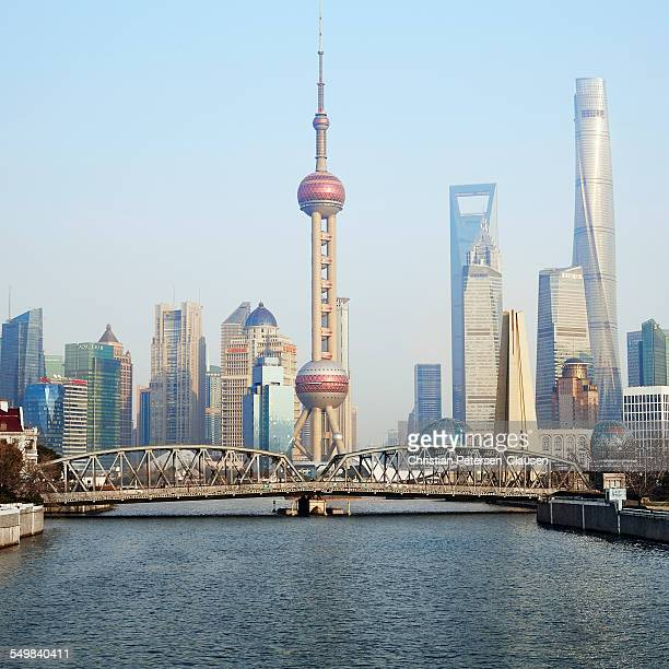Shanghai Bund and Pudong skyline