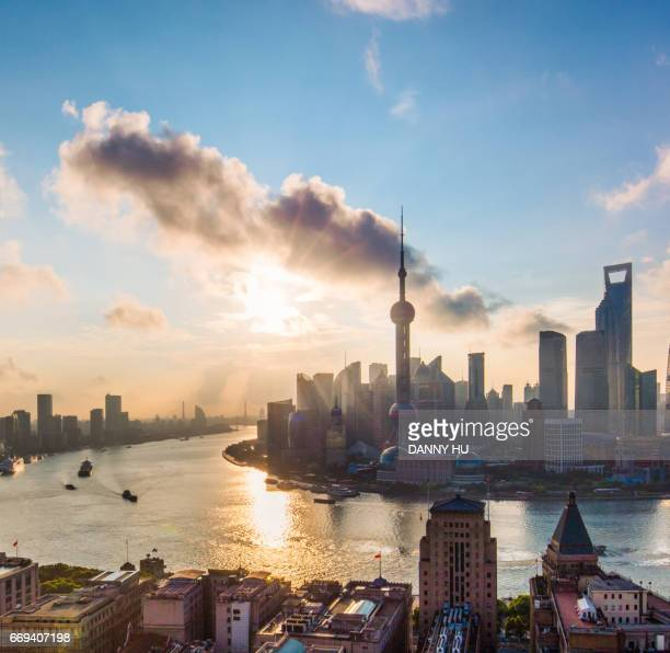 shanghai bund at sunrise