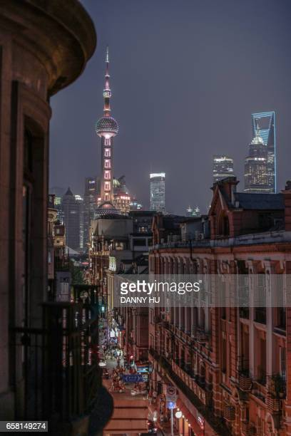 shanghai bund nightscape