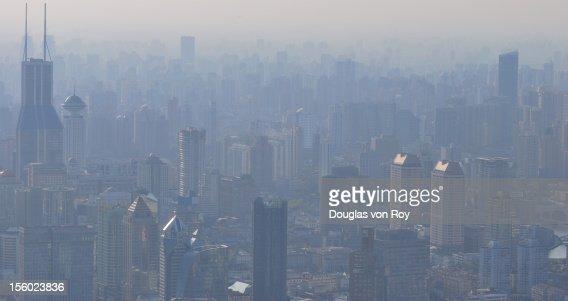 Shanghai central city skyscraper : Stock Photo
