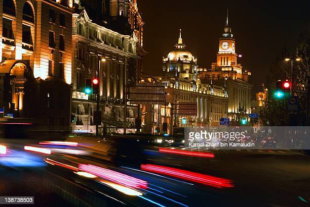 Shanghai city,  Bund at night
