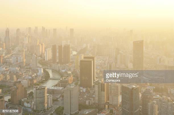 Shanghai Cityscape at Sunset, China