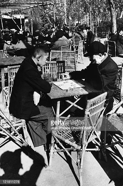 Shanghai Draughts Players In A Public Square In The 1950'S
