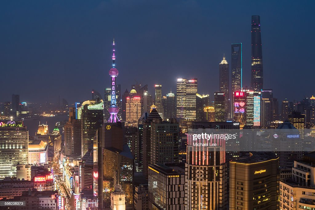 Shanghai Elevated Night View