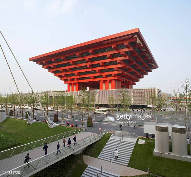 Shanghai Expo 2010 Chinese PavilionShanghaiChina Architect He Jingtang China Pavilion He Jingtang World Expo 2010 Shanghai China Exterior View Of The...