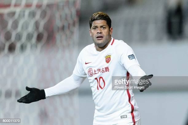 Shanghai FC Forward Givanildo Vieira De Sousa gestures during the AFC Champions League 2017 Group F match between FC Seoul vs Shanghai SIPG FC at the...