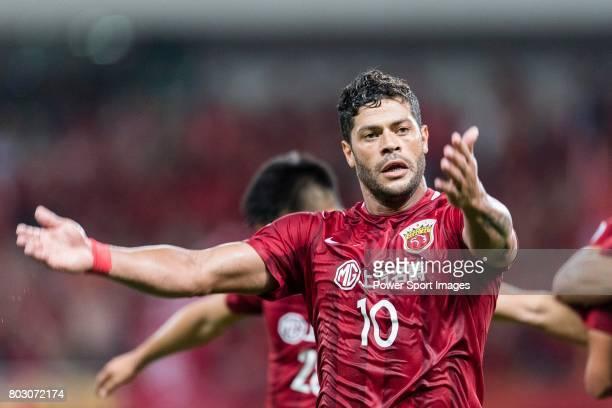 Shanghai FC Forward Givanildo Vieira De Sousa gestures during the AFC Champions League 2017 Round of 16 match between Shanghai SIPG FC vs Jiangsu FC...
