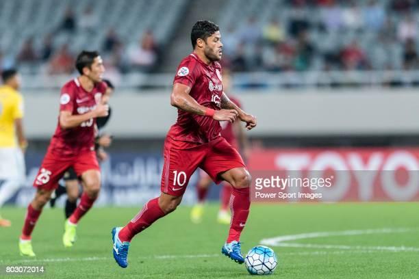 Shanghai FC Forward Givanildo Vieira De Sousa in action during the AFC Champions League 2017 Round of 16 match between Shanghai SIPG FC vs Jiangsu FC...