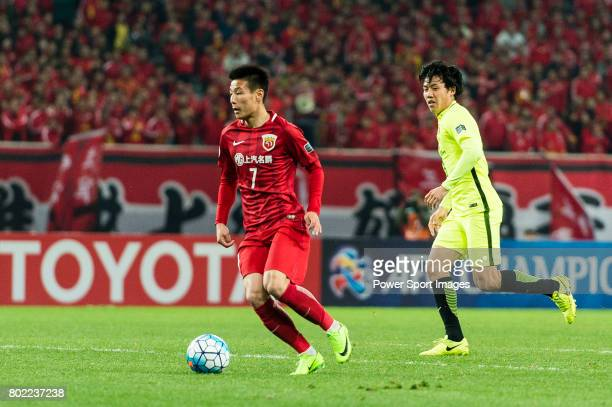 Shanghai FC Forward Wu Lei in action during the AFC Champions League 2017 Group F match between Shanghai SIPG FC vs Urawa Red Diamonds at the...