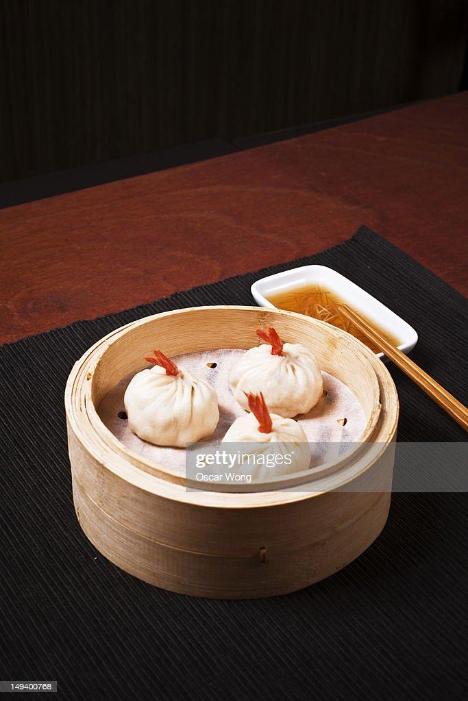 Shanghai Food - Nanxiang Steamed Buns : Stock Photo