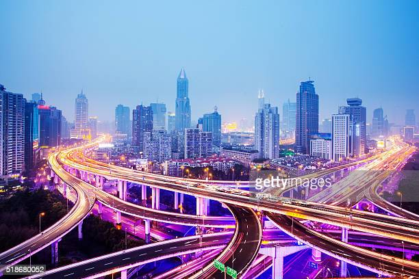 Shanghai Highway at Night
