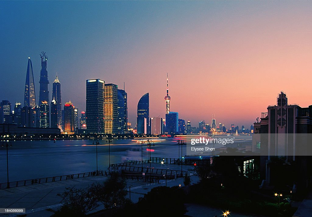 Shanghai in Sunset : Stock Photo