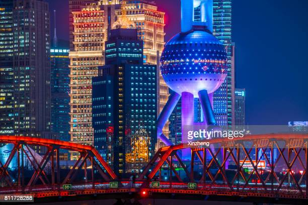 Shanghai landmark at night