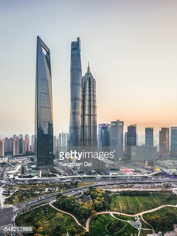 Shanghai Landmarks at Sunset