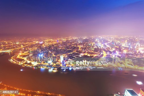 shanghai lujiazui financial center aside the huangpu river. : Stock Photo