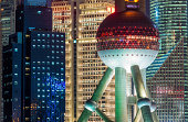 Shanghai Oriental Pearl Tower skyscrapers Pudong China
