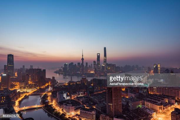Shanghai Panorama at Dawn