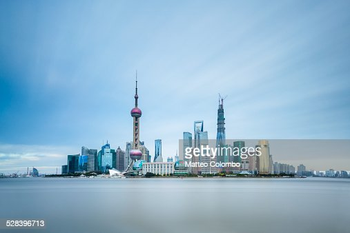 Shanghai Pudong financial district skyline, China