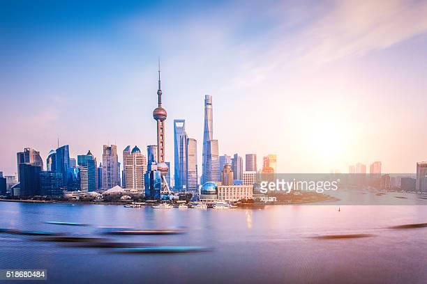 Les toits de Shanghai Pudong