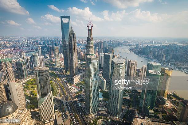 Shanghai Pudong skyscrapers futuristic cityscape China