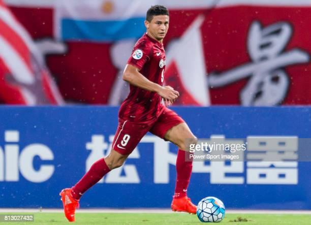 Shanghai SIPG FC forward Elkeson De Oliveira Cardoso in action during the AFC Champions League 2016 Quarter Final 1st leg between Shanghai SIPG FC vs...