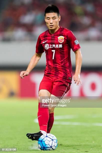 Shanghai SIPG FC forward Wu Lei in action during the AFC Champions League 2016 Quarter Final 1st leg between Shanghai SIPG FC vs Jeonbuk Hyundai...