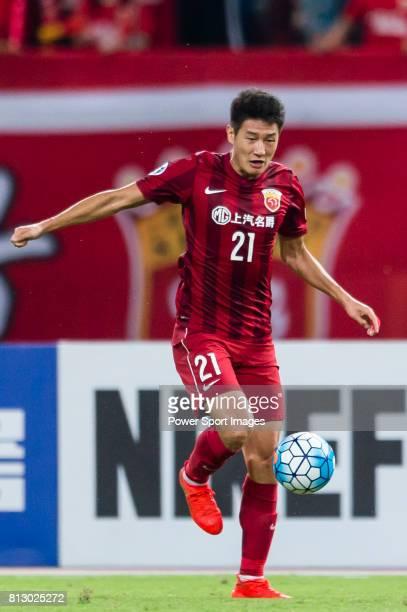 Shanghai SIPG FC forward Yu Hai in action during the AFC Champions League 2016 Quarter Final 1st leg between Shanghai SIPG FC vs Jeonbuk Hyundai...