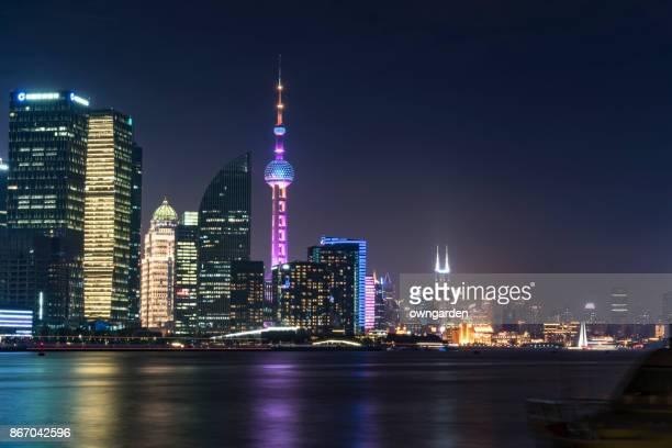 Shanghai Skyline at Nightv