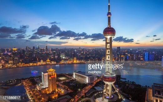 Shanghai stock photos and pictures getty images - Shanghai skyline wallpaper ...