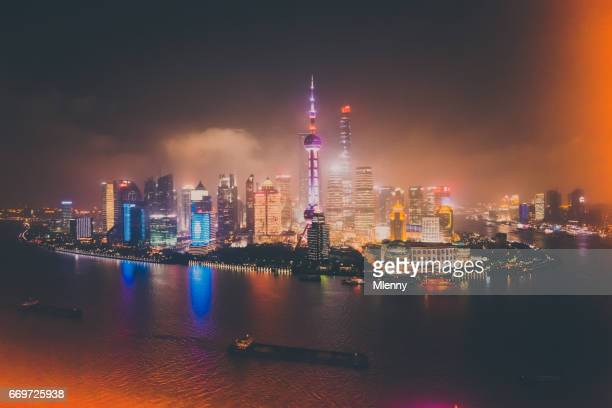 Shanghai Skyline Cityscape at Night China