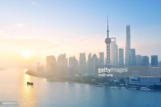Shanghai Skyline in the Morning, Shanghai