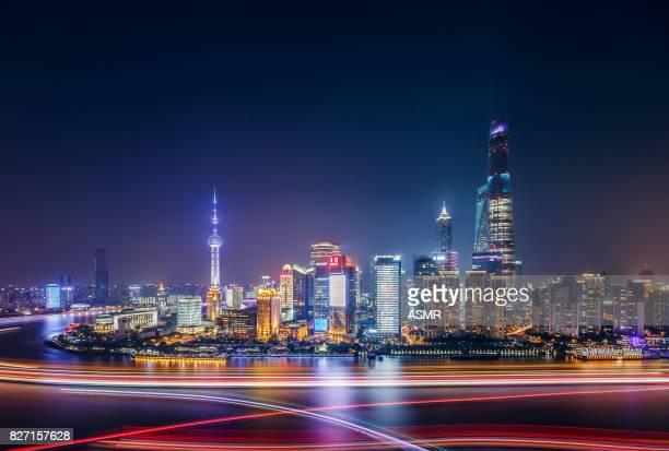 Shanghai Skyline Sunset