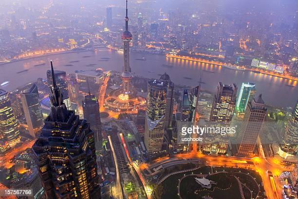 Gratte-ciel de Shanghai Pudong, quartier des finances